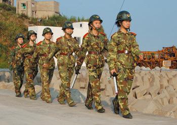那一抹鲜艳国防绿 ――访坎门女子民兵哨所